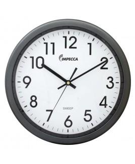 IMPECCA 12 Inch Quiet Movement Wall Clock - Grey