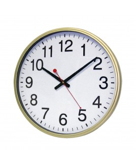 IMPECCA Silent Movement 18-inch Wall Clock - Gold