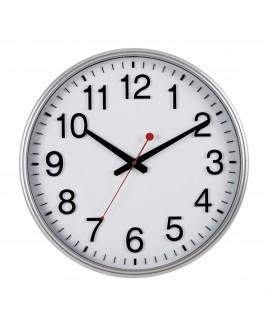 IMPECCA Silent Movement 18-inch Wall Clock - Silver