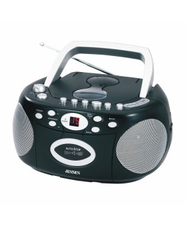 JENSEN Portable Stereo CD Cassette Recorder with AM/FM Radio