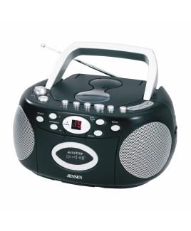 JENSEN Portable Stereo CD Cassette Recorder with AM/FM Radio
