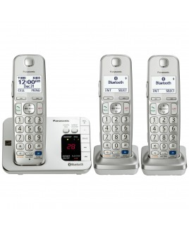 Panasonic Dect 6.0 Plus Link2Cell Bluetooth Phone with Talking Caller ID Answering Machine 3 Cordless Handsets