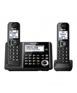 Panasonic DECT 6.0+ 2-Handset Cordless Phone, Talking Caller ID and Answering Machine