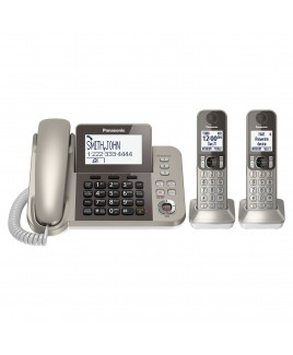 Panasonic Corded/Cordless Phone with Talking Caller ID and Answering Machine, 2-Cordless Handsets