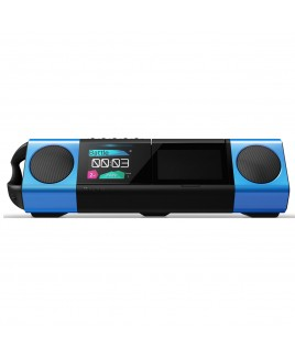 Pioneer STEEZ SOLO 4GB Portable Music System with Headphones, Black/Blue