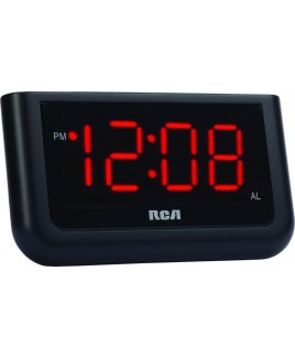 RCA RC30 Single Wake Alarm Clock with 1.4