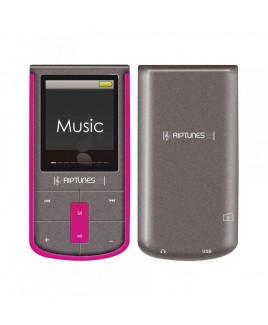 Riptunes 8GB MP4 Player with 1.8-inch LCD and microSD Card Slot, Pink