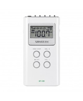Sangean AM/FM Stereo Digital Tuning Pocket Radio (White)