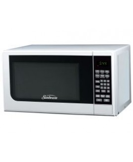 Sunbeam SGC7701 0.7CU. FT. 700watts Compact Digital Microwave Oven WHITE
