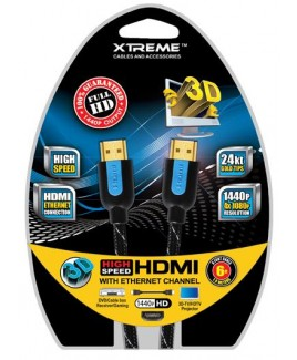 Xtreme 12ft Braided High Speed HDMI Cable with Ethernet Technology