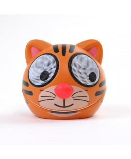 Zoo-Tunes Terry-the-Tiger Compact Portable Character Stereo Speaker