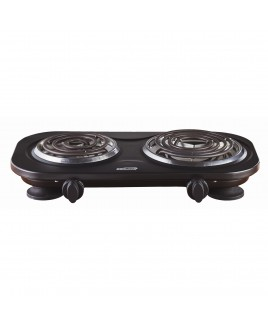 Brentwood Electric Double Burner Black