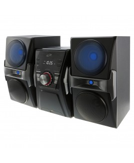 iLive Bluetooth CD FM Radio Shelf System with Color Changing Lights, and USB Charging Port