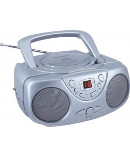 Sylvania SRCD243 AM/FM Portable CD Boom Box Silver