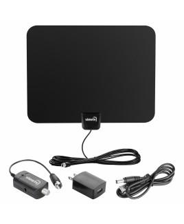 viewtv 60 Mile Ultra-Thin Flat Digital Indoor Amplified HDTV Antenna
