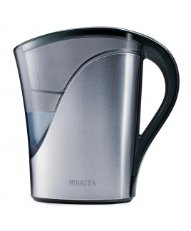 Brita 8-Cup Water Filtration Pitcher, Stainless Steel