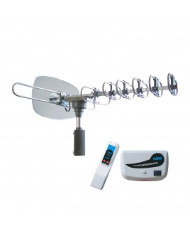Naxa High Powered Amplified Motorized Outdoor Antenna Suitable For HDTV and ATSC Digital Television