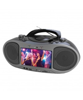 Naxa Bluetooth DVD/CD/MP3 Boombox with 7 inch LCD