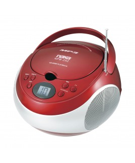 Naxa Portable MP3/CD Player with AM/FM Stereo Radio and AUX-in, Red