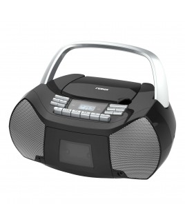 Naxa Portable CD/Cassette Boombox with AUX-in and Digital AM/FM Radio