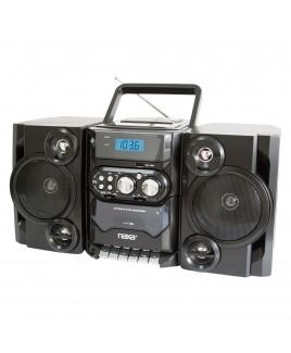 Naxa Portable MP3/CD/USB Player with Stereo AM/FM Radio & Cassette Recorder