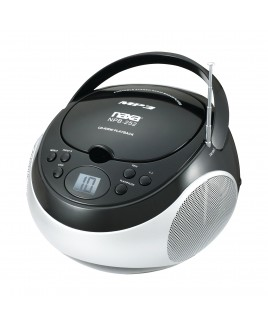 Naxa Portable MP3/CD Player with AM/FM Stereo Radio and AUX-in, Black