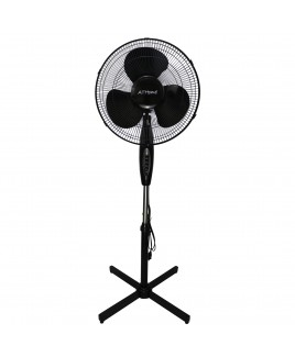 ATHome 16 Inch Stand Fan Black