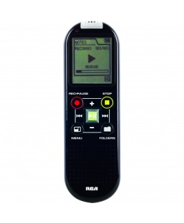 RCA 2GB Digital Voice Recorder - Up to 800-Hour Recording, Black