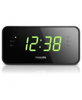 Philips Big Display FM/MW, Digital Tuning Dual Alarm Clock Radio