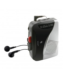GPX Portable 5-Button Cassette Recorder with AM/FM Radio