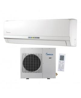 IMPECCA 9,000 BTU Ductless Heat & Cool Indoor & Outdoor Wall Mounted Inverter Split Unit Combination