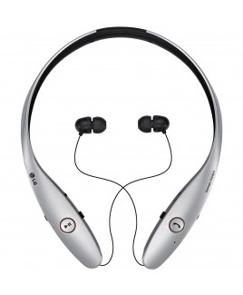 LG Electronics Tone Infinim Wireless Stereo Retractable Headset, Silver