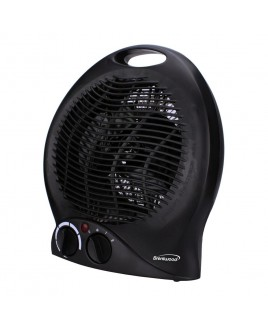 Brentwood 2-in-1 Heater/Fan, Black