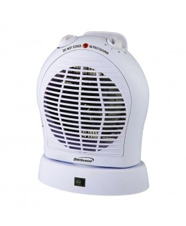 Brentwood Oscillating Heater/Fan White
