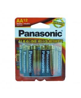 Panasonic 12 Pack Alkaline AA Size Batteries AM-3PA/12B