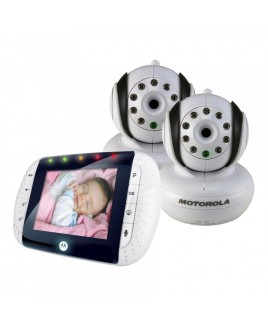 Motorola MBP33 Digital Wireless Video Baby Monitor with 2.8 in Color Display, includes 2 Baby Units