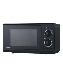 IMPECCA 0.6 Cu. Ft. 700 Watts Countertop Microwave Oven, Black