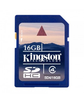 Kingston SDHC 16GB Memory Card Class 4