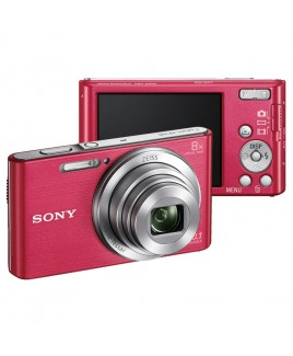 Sony 20.1MP Digital Camera with 8x Optical Zoom and 2.7-inch LCD, Pink