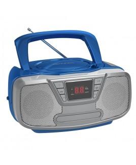 Riptunes Bluetooth Portable CD Boombox with AM/FM Radio, Blue