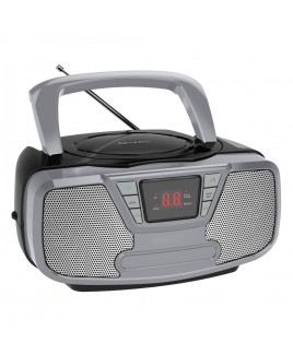 Riptunes Bluetooth Portable CD Boombox with AM/FM Radio, Black