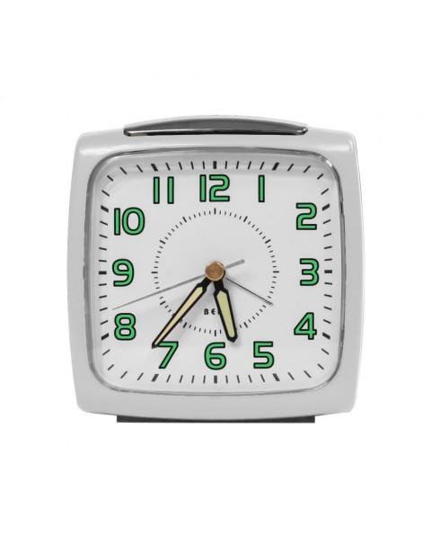 IMPECCA Bell Alarm Clock, Metallic White