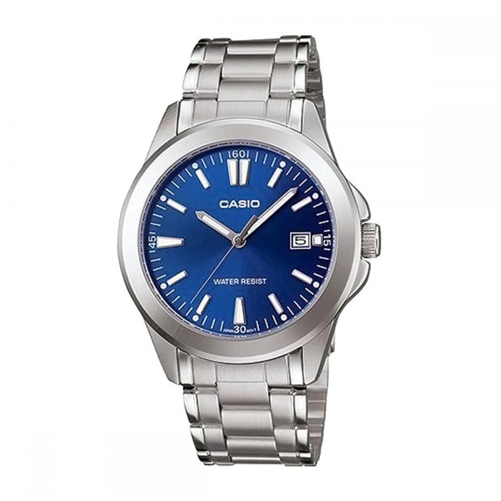 0ddf3a122 Casio 30 Meter Water Resistant Stainless Steel 3-Hand Analog Watch ...