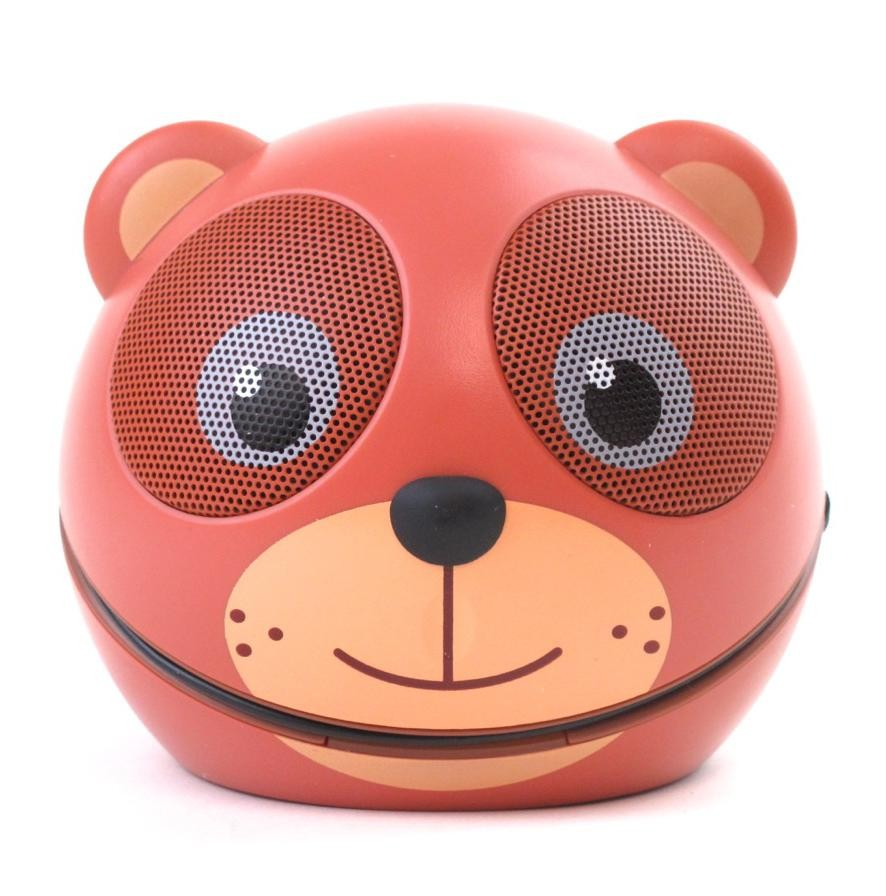 zoo tunes cocoa the bear compact portable character stereo speaker. Black Bedroom Furniture Sets. Home Design Ideas