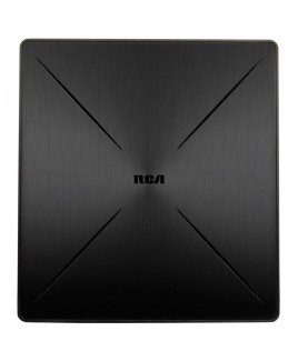 RCA SLIVR Multi-Directional Amplified Indoor Flat HDTV Antenna, Refurbished