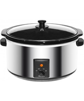 Brentwood SC-170S 8.0 Liter Slow Cooker Stainless Steel