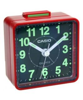 Casio TQ140 Travel Alarm Clock - Red