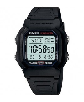 Casio W800H 100M Water Resistant Dual Time Alarm with Snooze LED Light with Afterglow