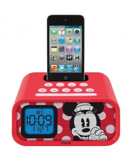 e-Kids Dual Alarm Clock Speaker System for iPod/iPhone, Minnie