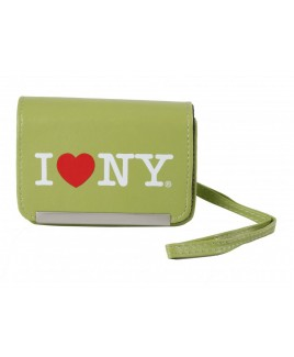 I Love NY DCS86 Compact Leather Digital Camera Case - Lime